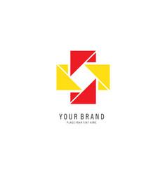 cross pixel logo vector image