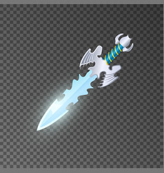 Epic dagger isolated game element vector