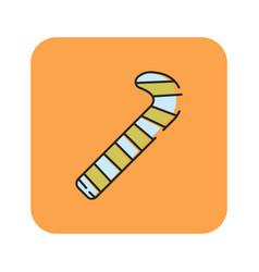 flat color santa cane icon vector image vector image