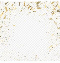 flying christmas confetti anniversary celebration vector image vector image