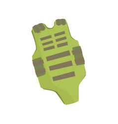 Green bulletproof vest cartoon vector