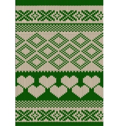 Green knitted background vector image vector image