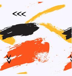 Grunge texture pattern in yellow orange vector