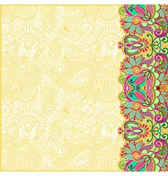 hand draw floral ornate card announcement vector image vector image
