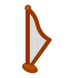 Harp icon isometric 3d style vector