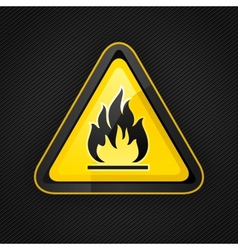 hazard flammable warning vector image vector image