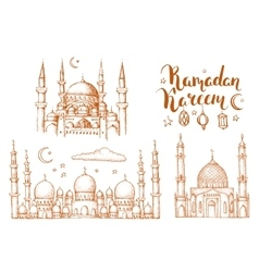 Islamic colorful holiday background vector