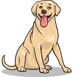 Labrador retriever dog cartoon vector