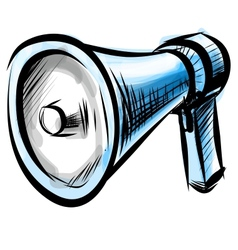 Megaphone isolated on white background vector image vector image