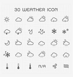 Monotone weather icon set vector image vector image