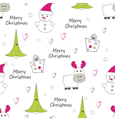 New year and christmas seamless pattern vector