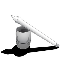 Pen for tablet with touchscreen vector