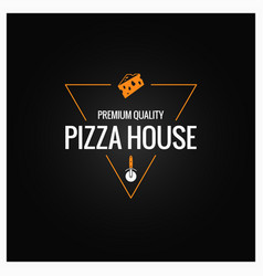 Pizza logo design background vector