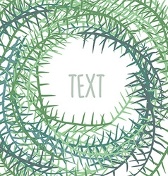 Plant frame with space for text Algae in a circle vector image