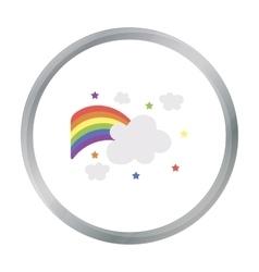 Rainbow icon cartoon single gay icon from the big vector