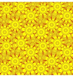 seamless floral background of drawn lines vector image vector image