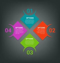 Steps design for info-graphics vector image