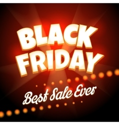 Black friday poster vector