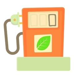Eco gas station icon cartoon style vector