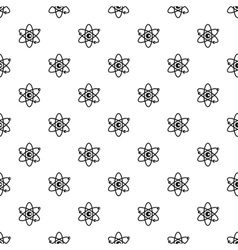 Atom with electrons pattern simple style vector image