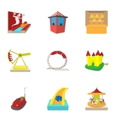 Swing icons set cartoon style vector
