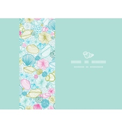 Seashells line art horizontal decor seamless vector