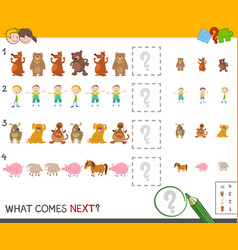 finish the pattern activity game vector image