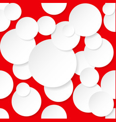Seamless texture circles for design on red vector