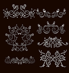 Vintage frames and scroll elements6 vector