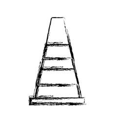 Safety cone icon vector
