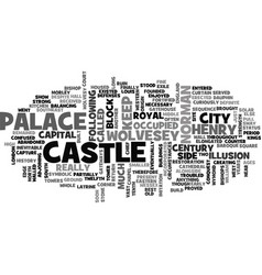 Wolvesey castle text word cloud concept vector