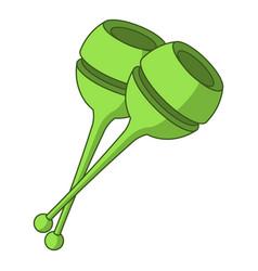 gymnastic mace icon cartoon style vector image