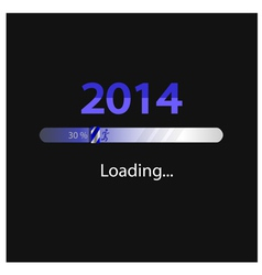 New year 2014 loading background vector