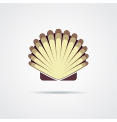 Shell symbol isolated on a white background vector