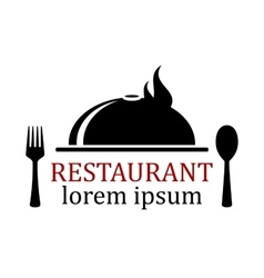 Restaurant icon with dish vector