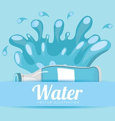 Pure water design vector