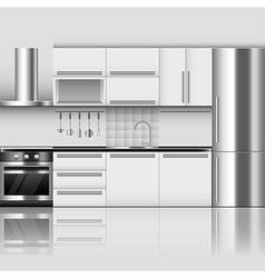 Modern kitchen interior background vector image