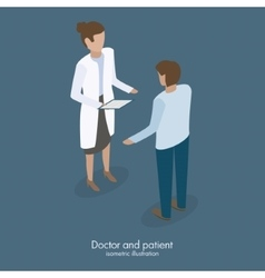 Doctor talking with patient vector