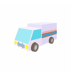 Humanitarian aid car icon cartoon style vector