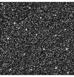 Black glitter background vector image