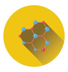 Icon of chemistry hexa connection of atoms vector