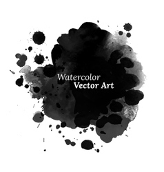 Abstract black watercolor texture vector