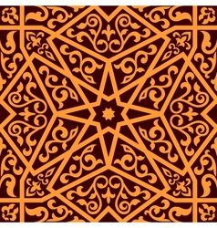 Arabian seamless pattern with a central star vector image