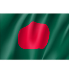 bangladesh flag flat style vector image vector image