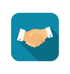Businessman handshake icon vector image