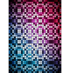 Checkered blue and purple background vector