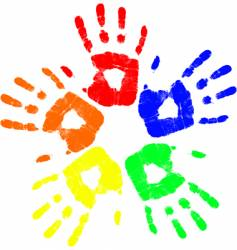 color hand vector image