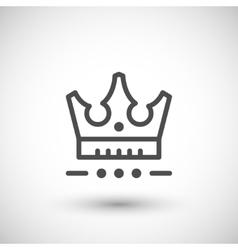 Crown line icon vector image vector image
