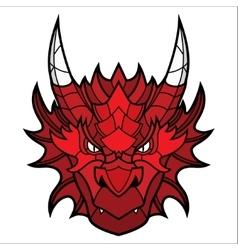Dragon head mascot vector image