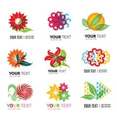 flower logo 2 vector image